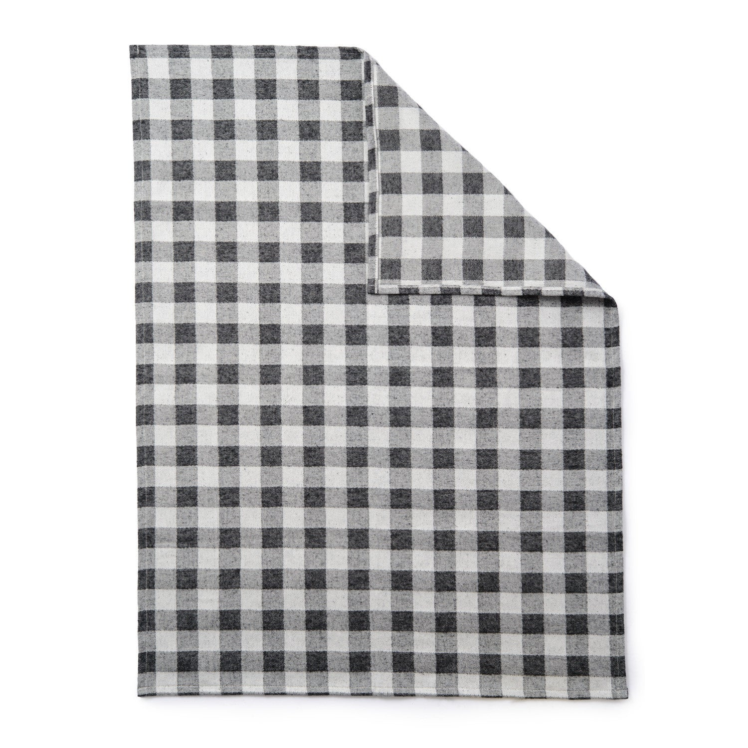 Woodhouse Check Baby Blanket Black