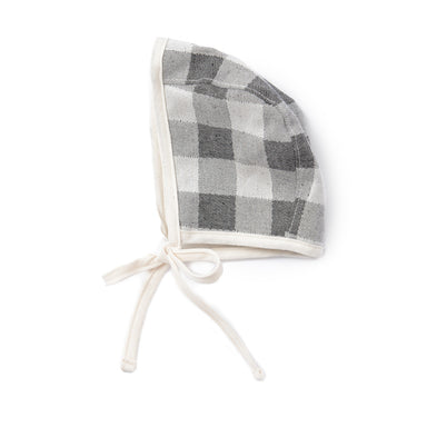 Woodhouse Check Baby Bonnet Black