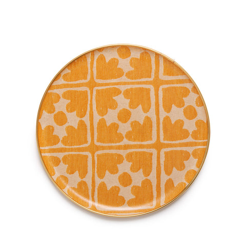 Bloom Round Tray - Mustard