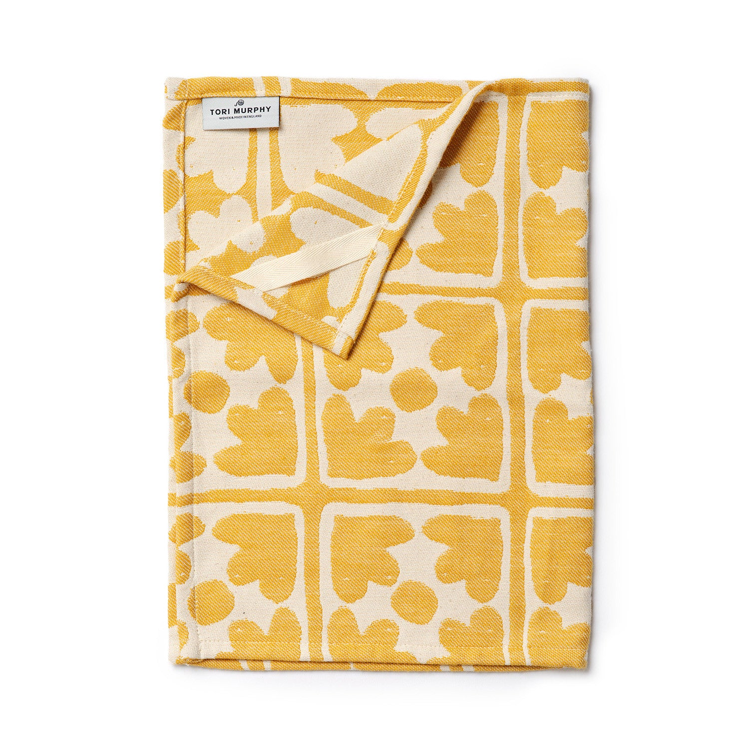 Bloom Tea Towel Mustard