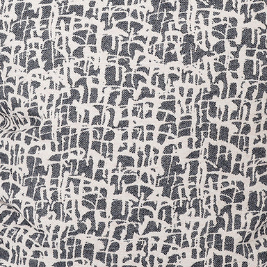 Boulder Wool Fabric Graphite and Ecru