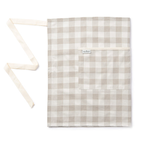 Woodhouse Check Butchers Apron Fawn