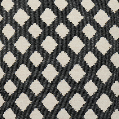Cadogan Check Wool Fabric Black