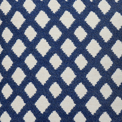 Cadogan Check Wool Fabric Navy