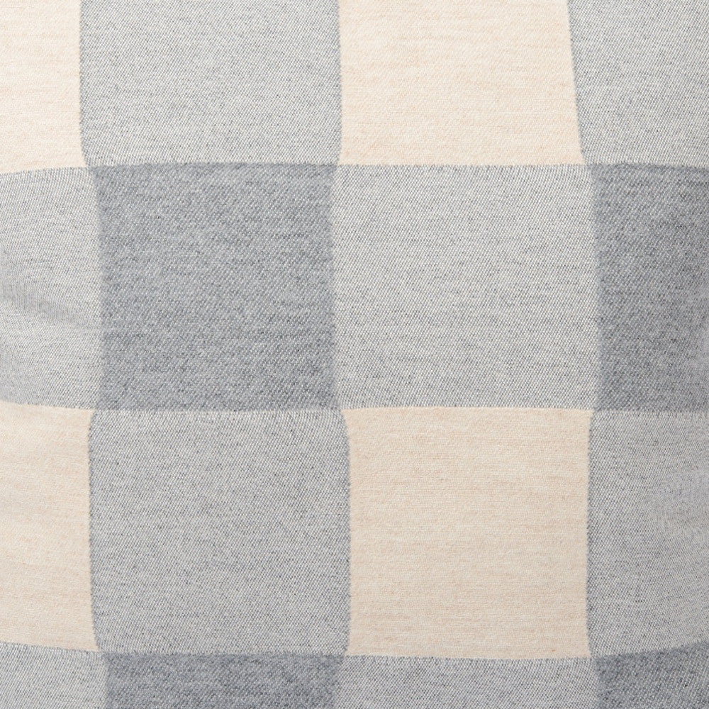 Woodhouse Check Wool Fabric Grey