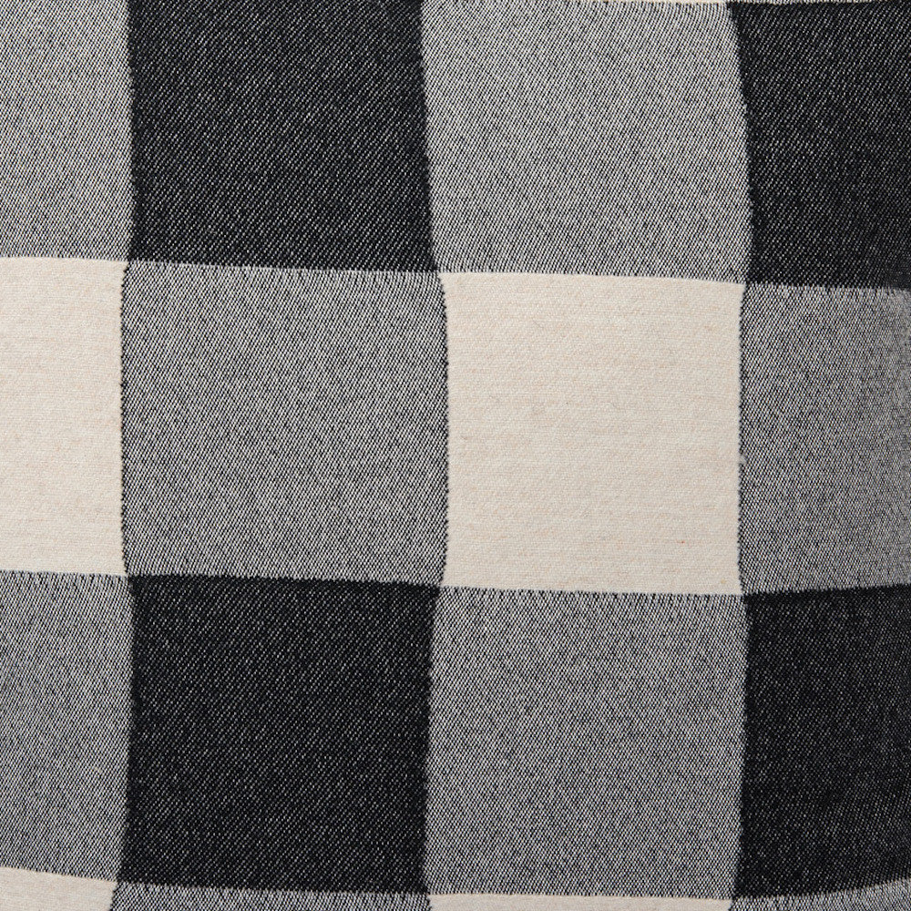 Woodhouse Check Wool Fabric Black