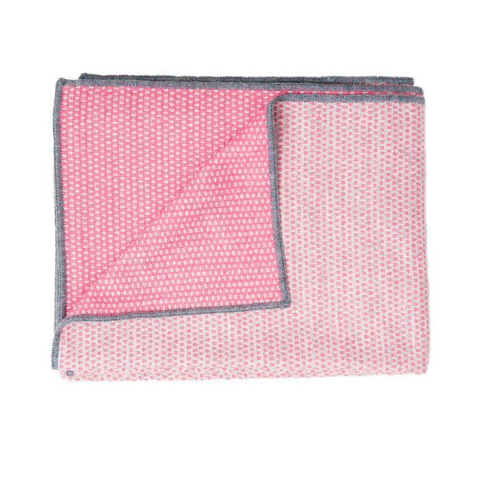 Classic Clarendon Throw Hot Pink and Grey