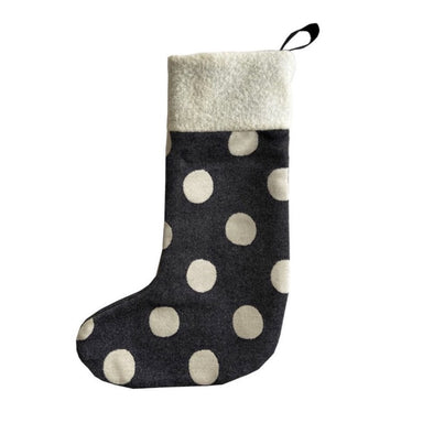 Dotty Spot Christmas Stocking Black