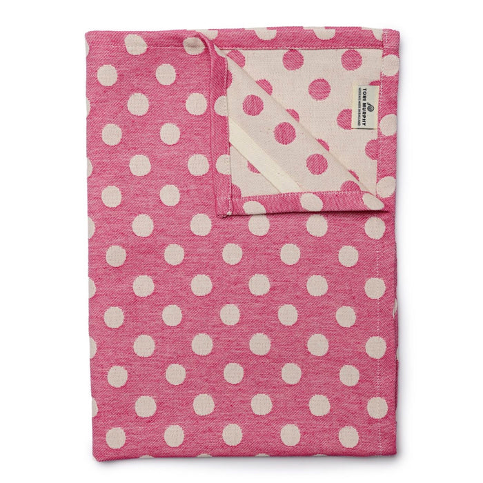 Dotty Spot Tea Towel Radish