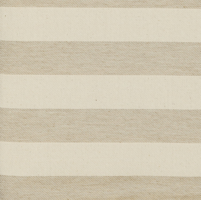 Fastnet Stripe Cotton Fabric Mushroom