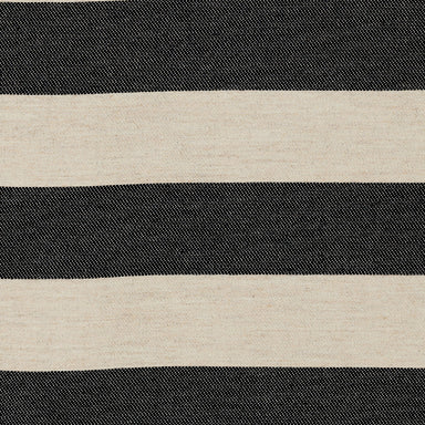 Fastnet Stripe Wool Fabric Black