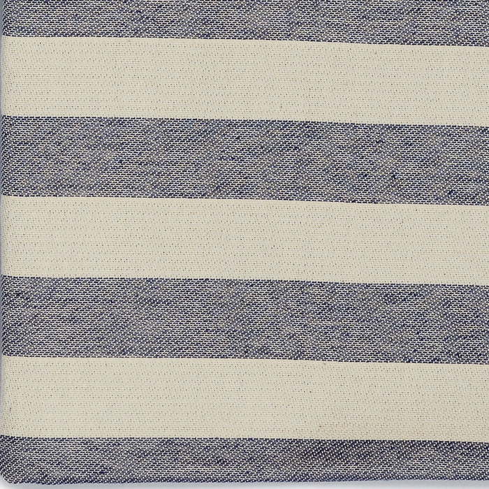 Fastnet Stripe Cotton Fabric Navy