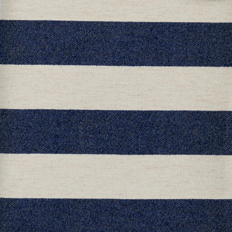 Fastnet Stripe Wool Fabric Navy