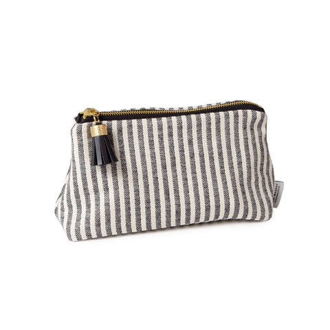 Harbour Stripe Small Wash Bag Black