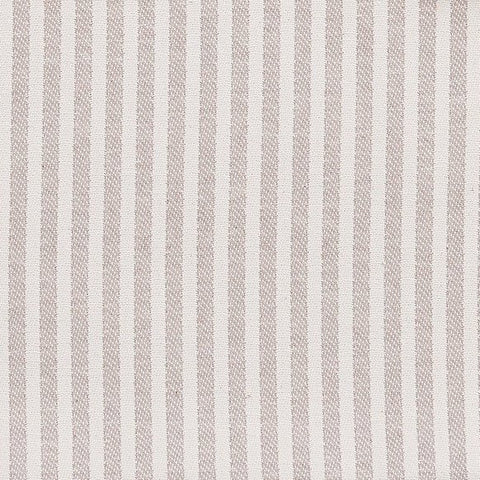 Harbour Stripe Cotton Fabric Fawn and Ecru