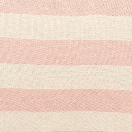 Fastnet Stripe Cotton Fabric Rose