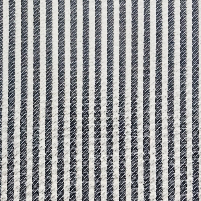 Harbour Stripe Cotton Fabric Black