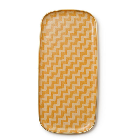 Climbing Chevy Rectangle Tray - Mustard and cream