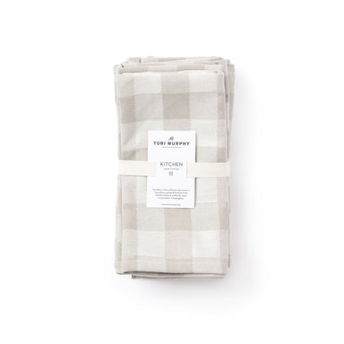 Woodhouse Check Napkin Set of 2, Fawn