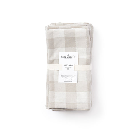 Woodhouse Check Napkin Set of 4, Fawn