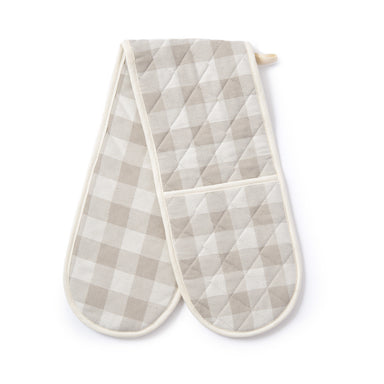 Woodhouse Check Double Oven Glove Fawn