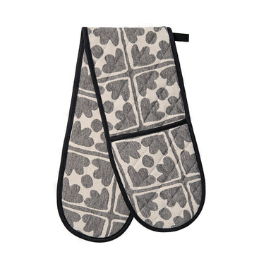 Bloom Double Oven Glove Black