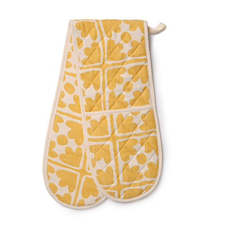 Bloom Double Oven Glove Mustard