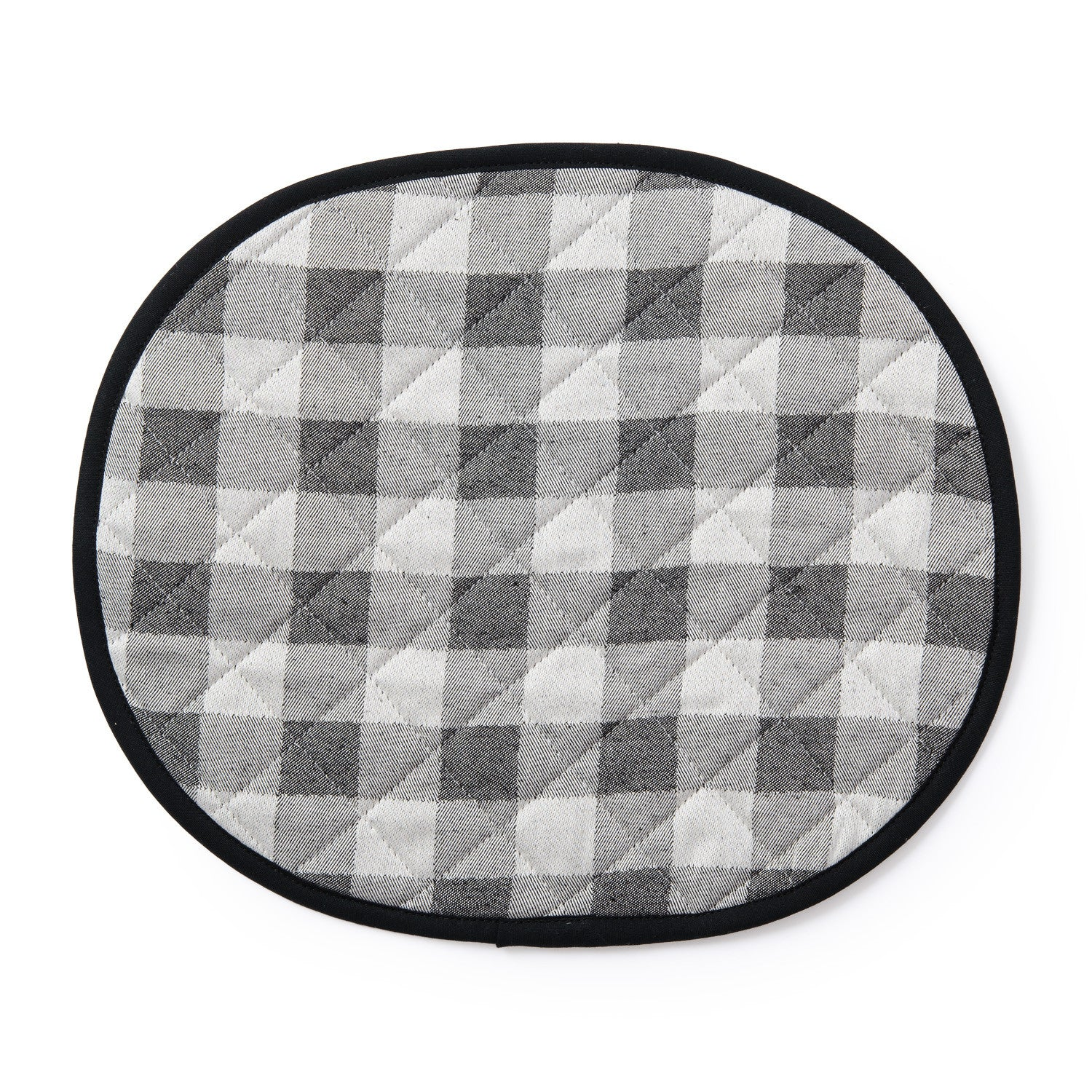 Woodhouse Check Placemat Black