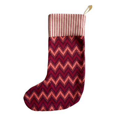 Repton Chevron Christmas Stocking Red