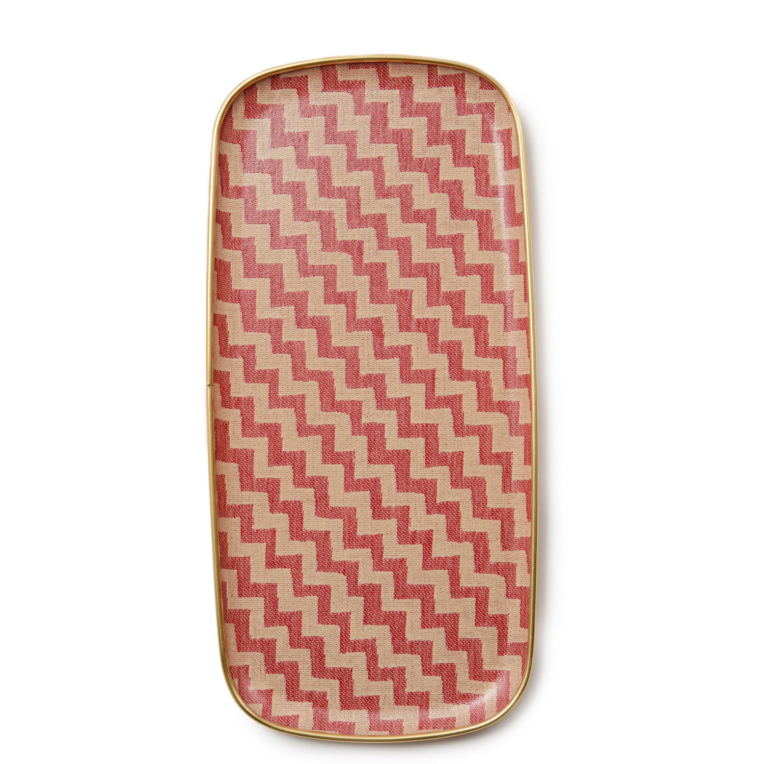 Climbing Chevy Rectangle Tray - Radish and cream