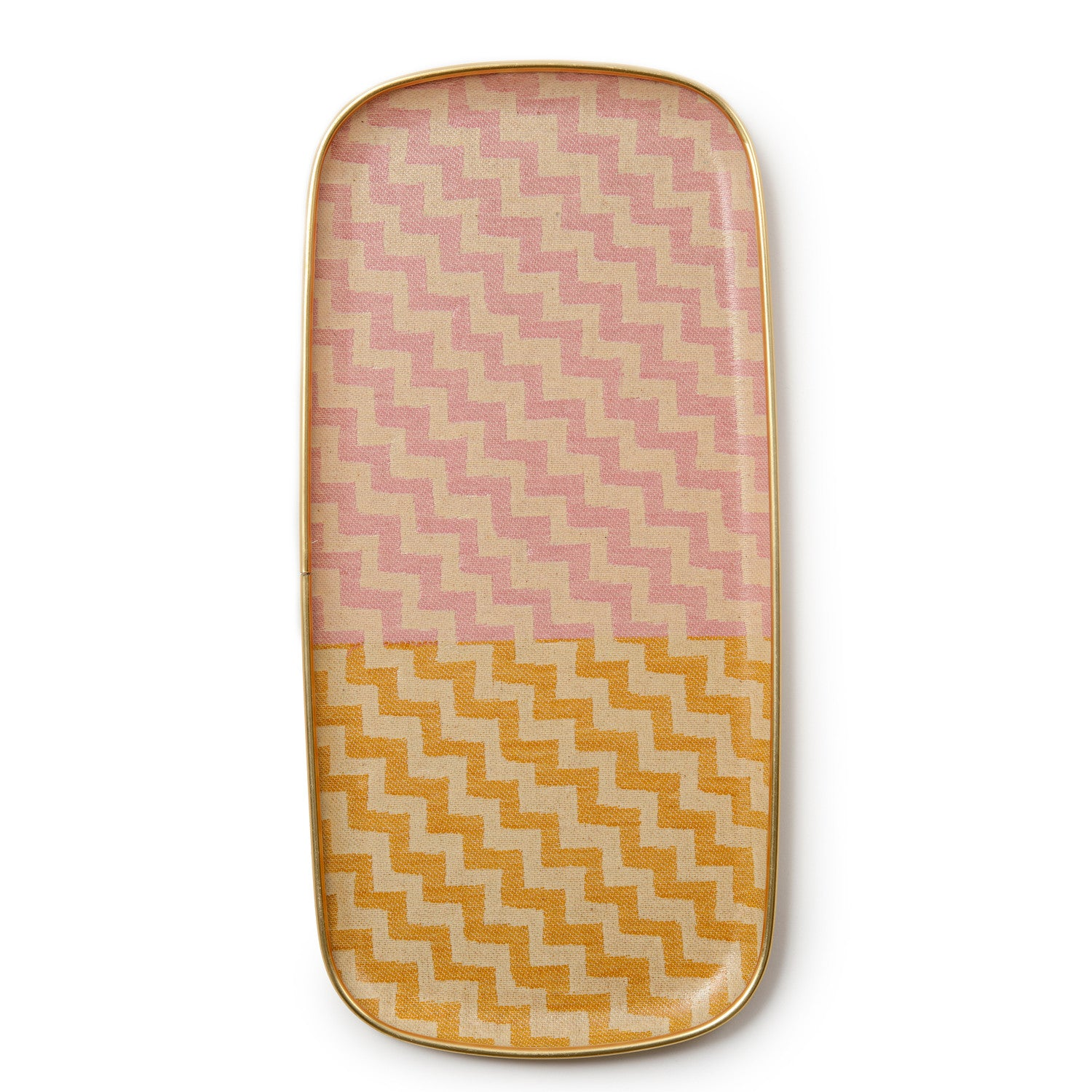 Climbing Chevy Rectangle Tray - Double Colour Rose and Mustard