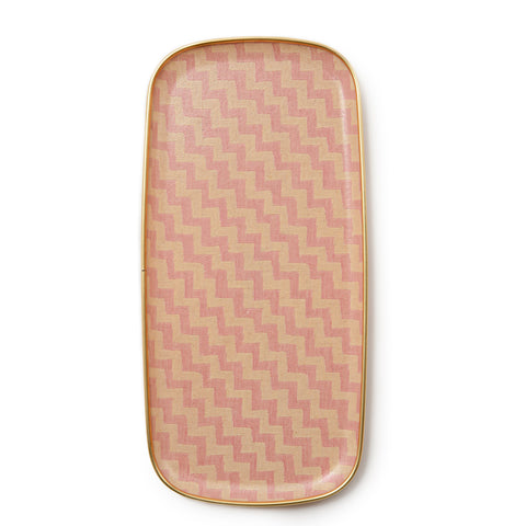 Climbing Chevy Rectangle Tray - Rose and cream