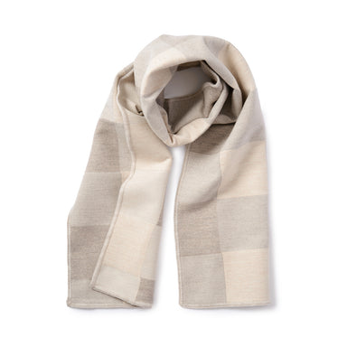 Woodhouse Check Merino Wool Scarf Mushroom