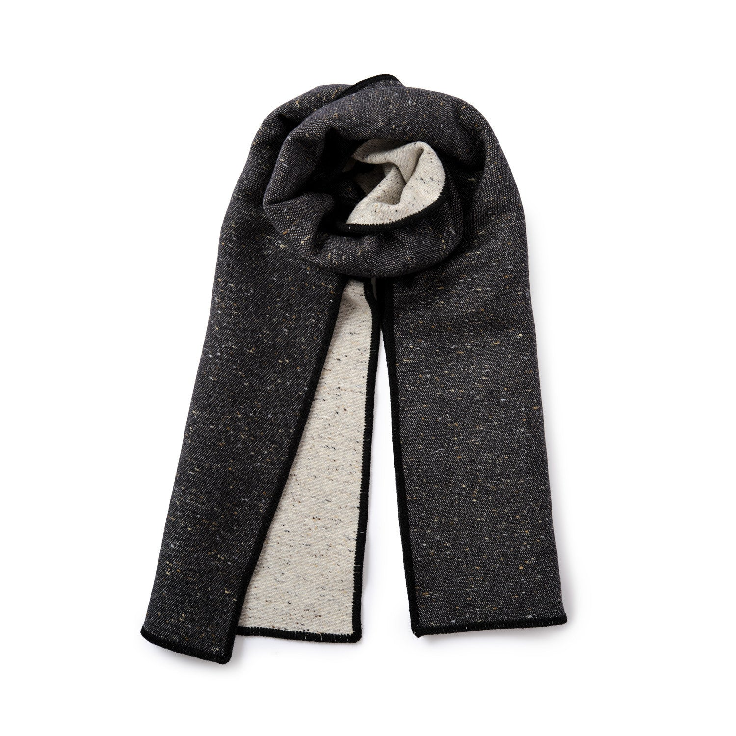 Sandringham Plain Donegal Wool Reversible Scarf