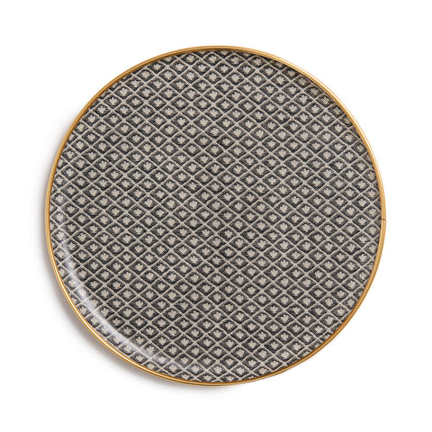Seedling Round Tray - Black