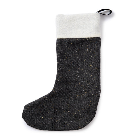 Sandringham Plain Christmas Stocking Charcoal