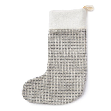 Holkham Waffle Christmas Stocking Grey
