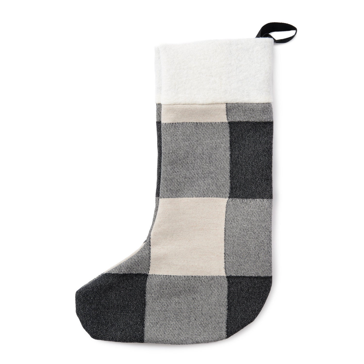 Woodhouse Check Christmas Stocking Black