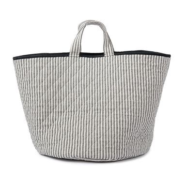 Harbour Stripe Storage Basket Black