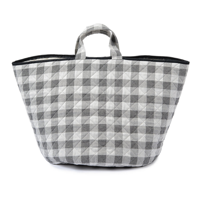 Woodhouse Check Storage Basket Black