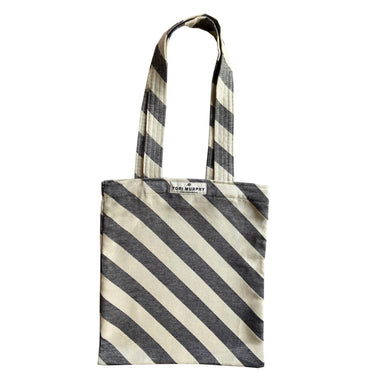 Totto Stripe Tote Bag in Black