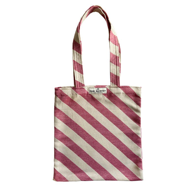 Totto Stripe Tote Bag in Radish