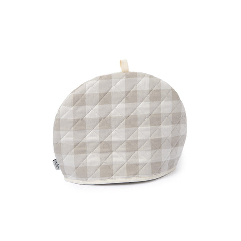 Woodhouse Check Tea Cosy Fawn | Designer Tea Cosies