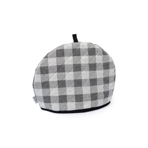 Woodhouse Check Tea Cosy Black | Designer Tea Cosies