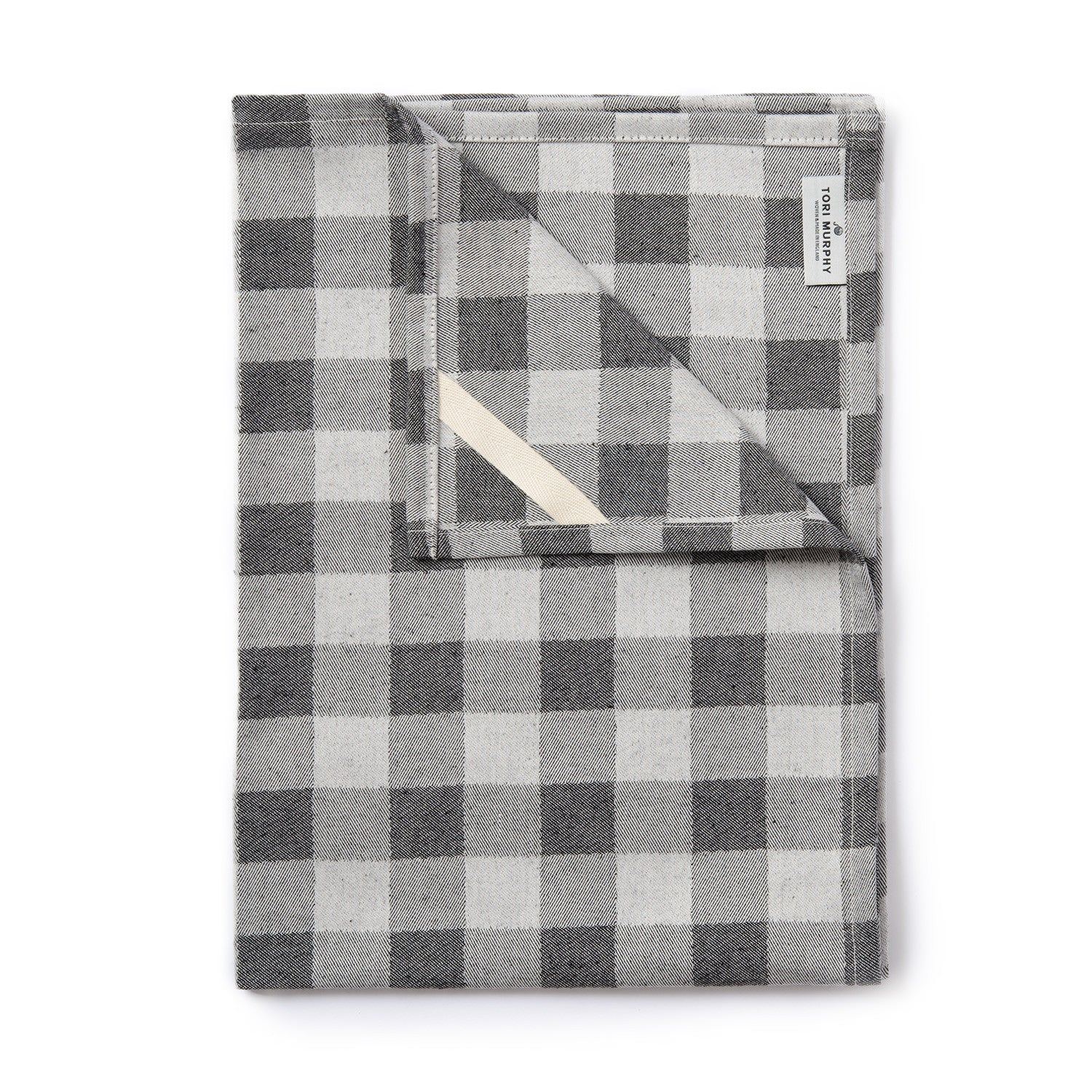 Woodhouse Check Tea Towel Black