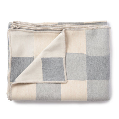 Woodhouse Check Throw Grey