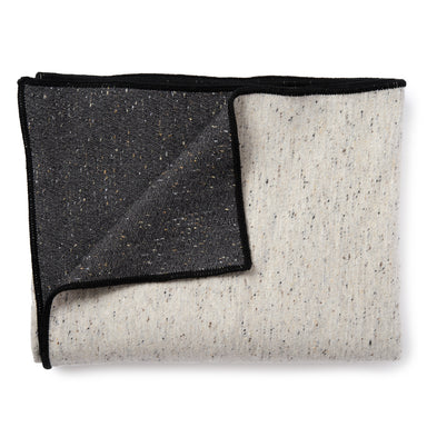 Sandringham Plain Throw Charcoal & Grey