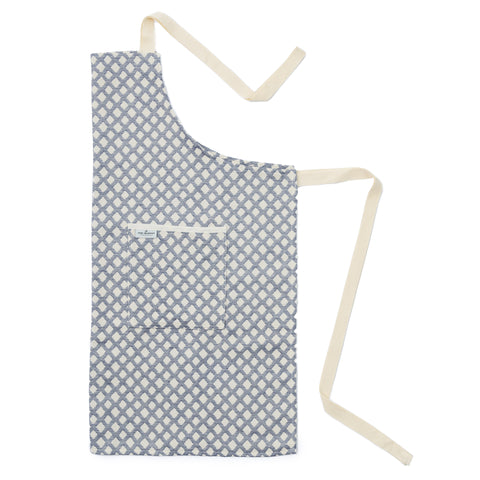 Cadogan Check Apron Navy