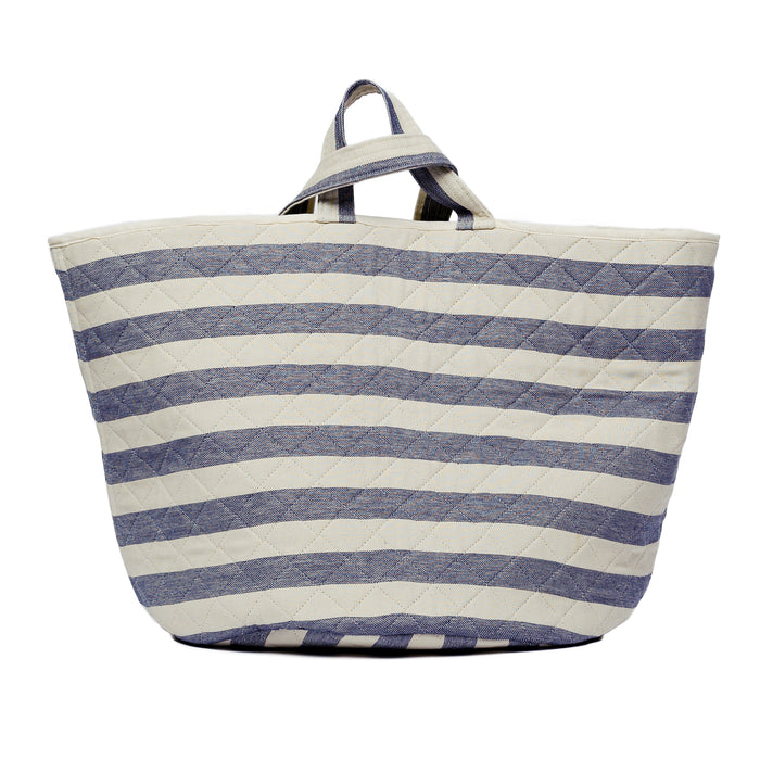 Fastnet Stripe Storage Basket Navy