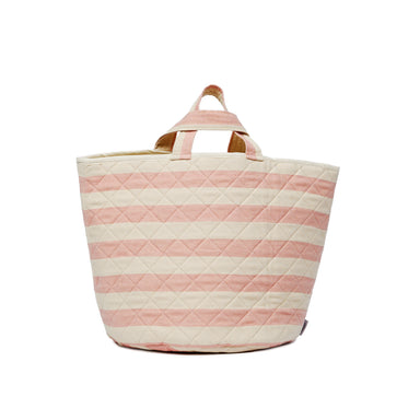 Fastnet Stripe Storage Basket Rose
